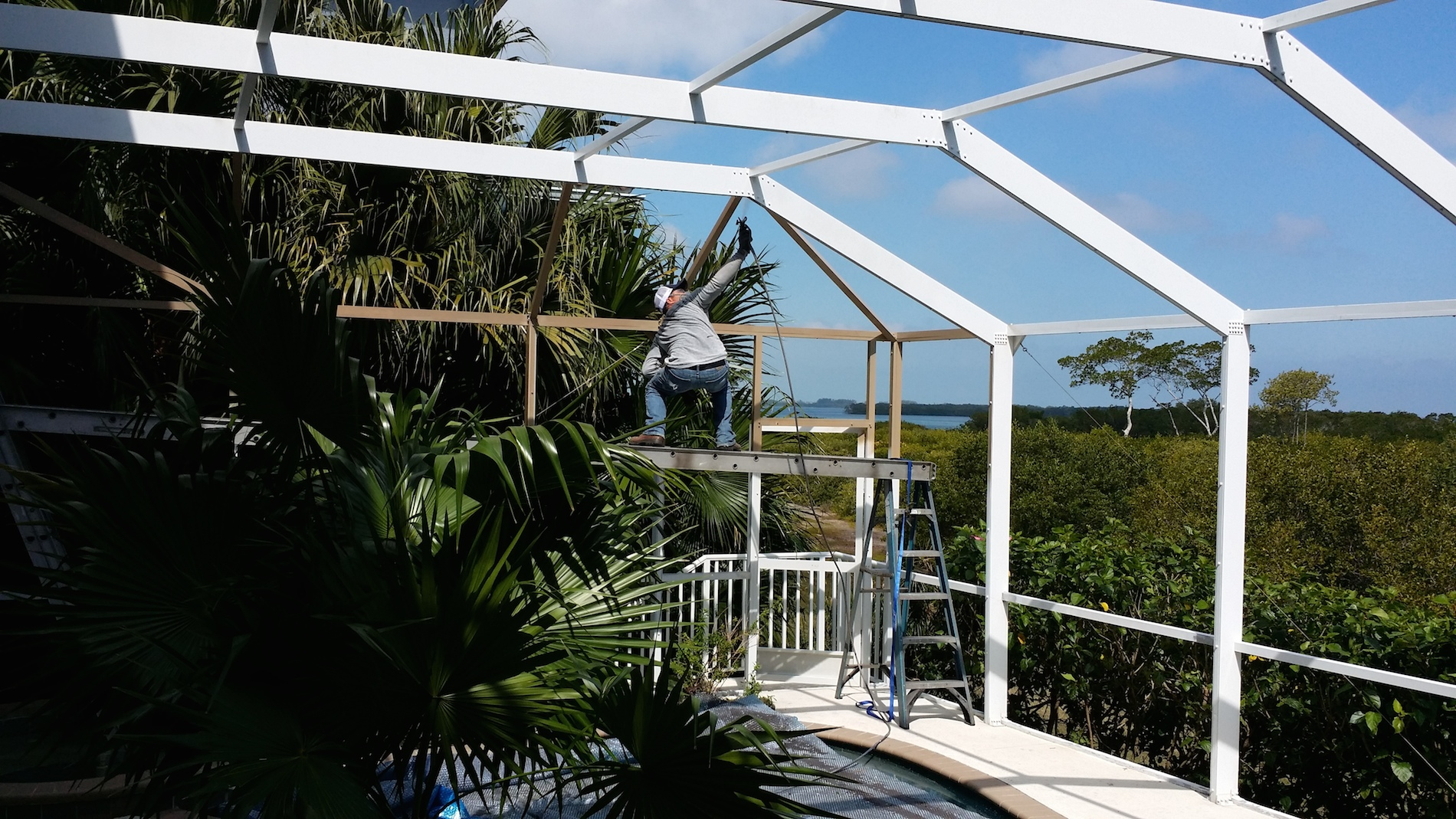 Pool Enclosure Restoration Tampa, St  Pete, and Clearwater FL